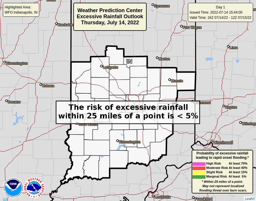 WPC Day 1 Outlook - Central Indiana