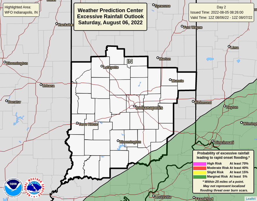 WPC Day 2 Outlook - Central Indiana