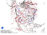 Latest North American surface analysis without observations