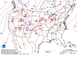 Latest United States (CONUS) surface analysis without observations